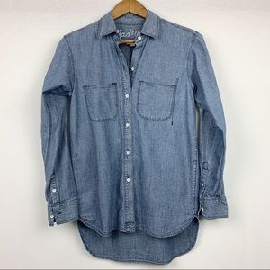 6 HR CCO SALE!*Madewell Exboyfriend Denim Chambray